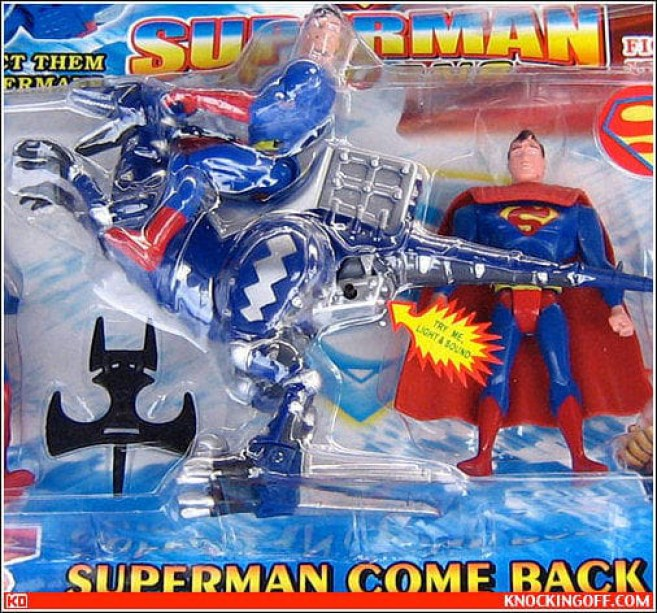 juguete pirata de super man