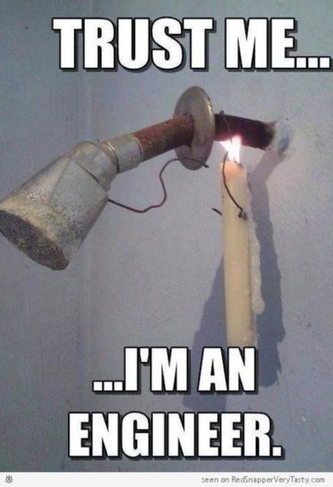 agua caliente con una vela