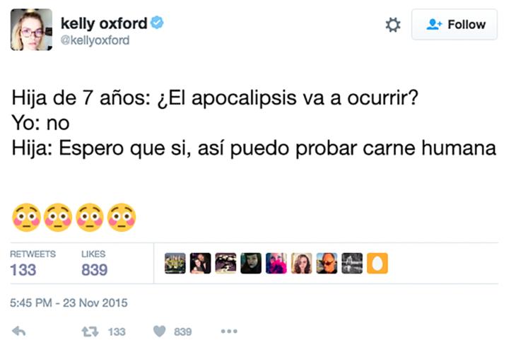 twitter niña de 7 años apocalipsis