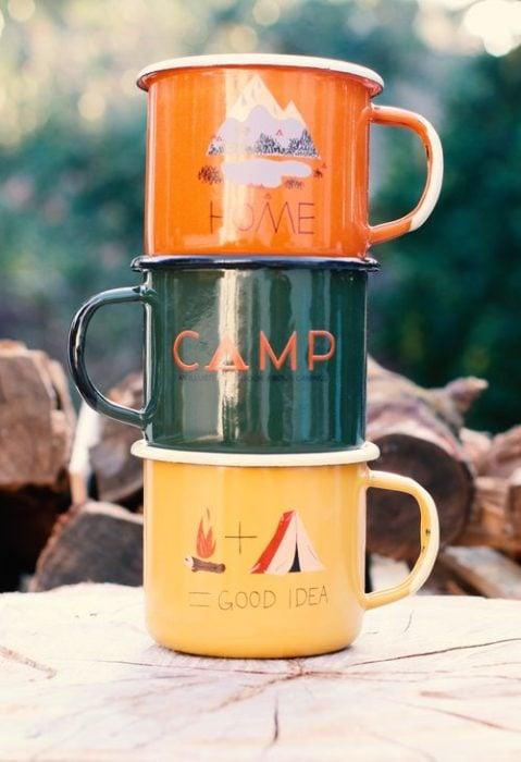 tazas para acampar