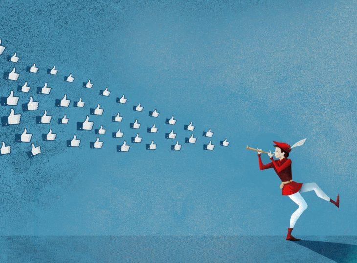 ilustración el flautista de los likes