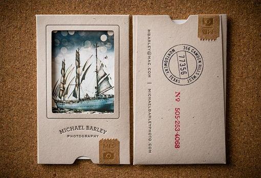 tarjeta de presentación postales