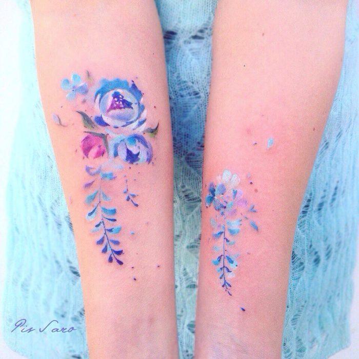 tatuaje lavanda en brazos