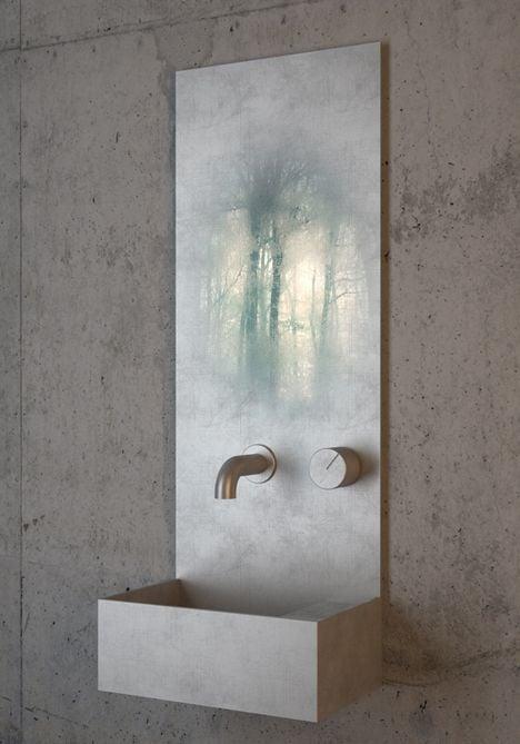 lavabo y espejo en 1