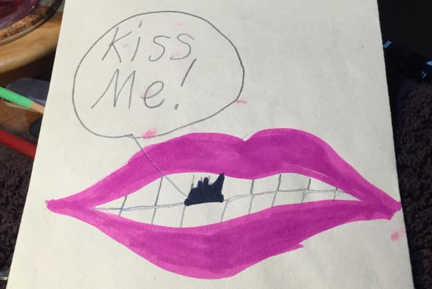 dibujo de una boca hecha por un niño