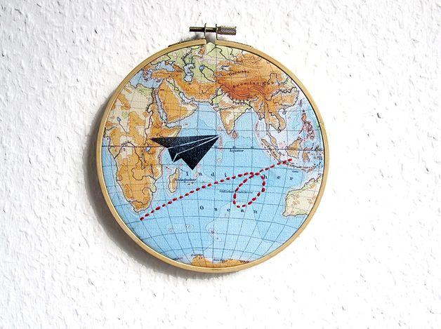 bordado de mapamundi