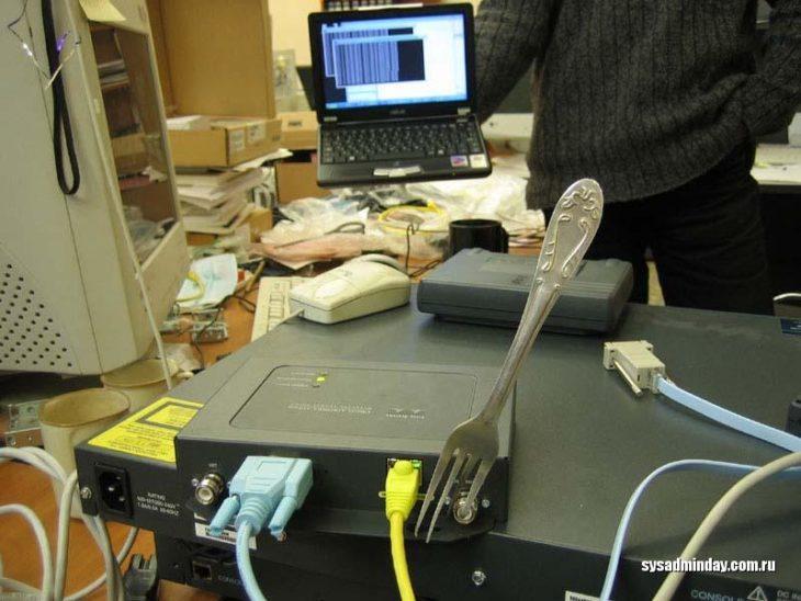 aparato arreglado a la mexicana con un tenedor