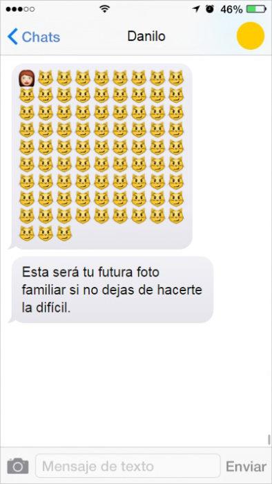 mensaje de texto solterona