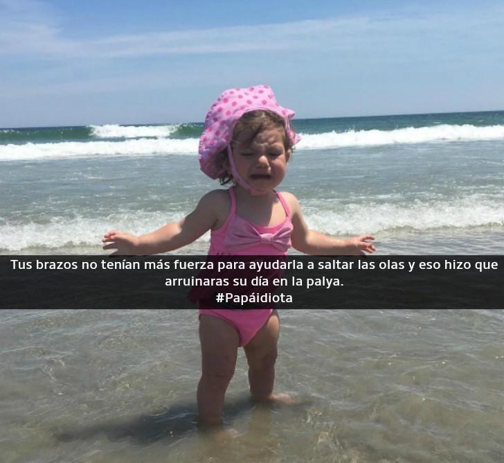 niña en el mar llorando
