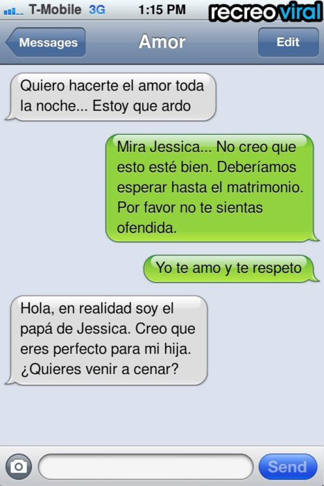 mensaje de texto un buen novio
