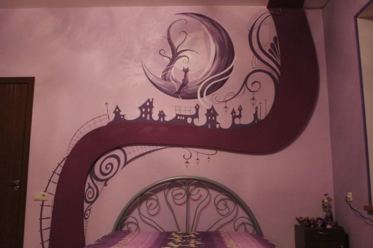 mural luz encendida