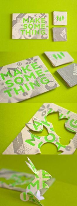 tarjeta de presentación conejito