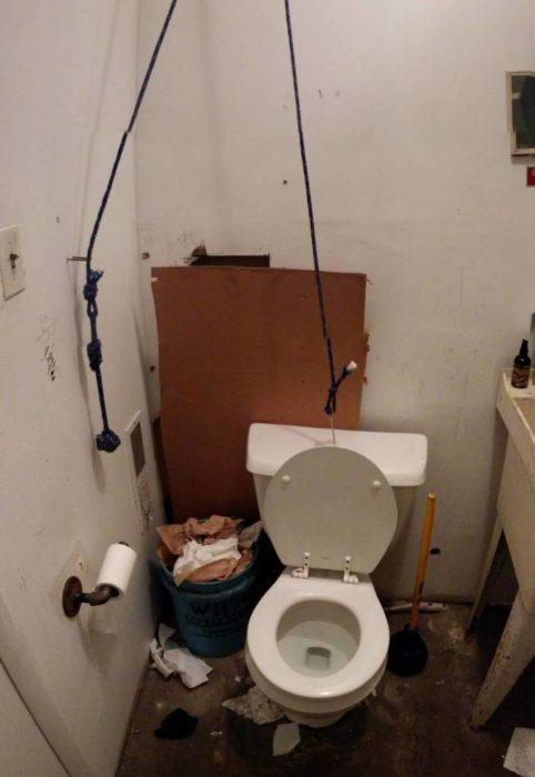 arreglo palanca del baño descompuesta