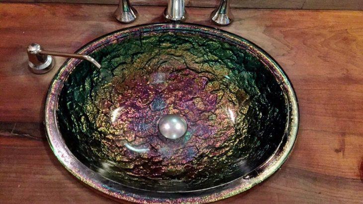 lavabo colores metálicos