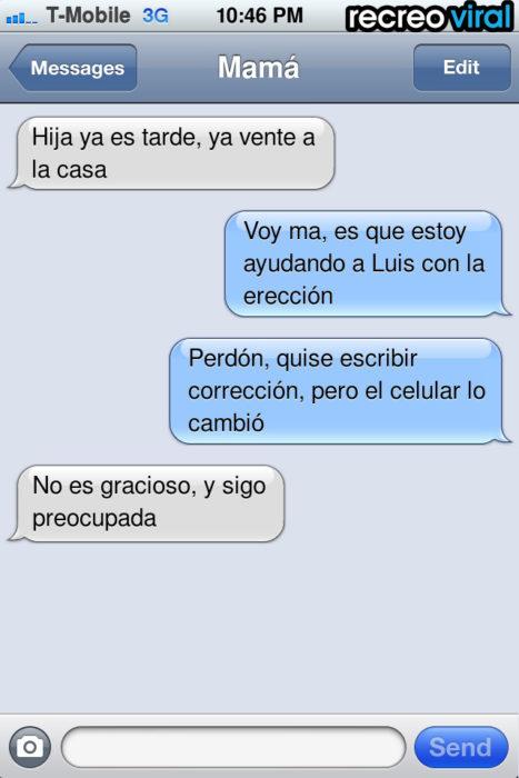 mensaje de texto erección