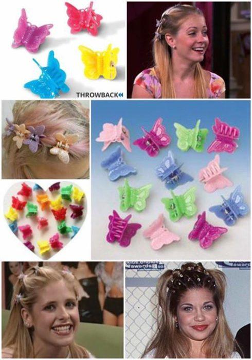 broches de mariposa para el cabello