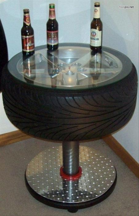 neumático mesa
