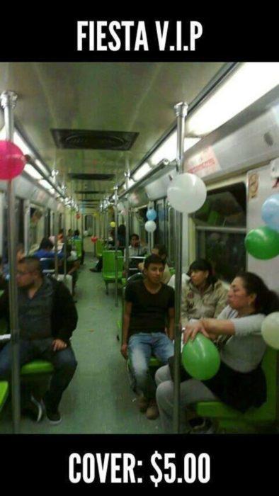 fiesta en el metro