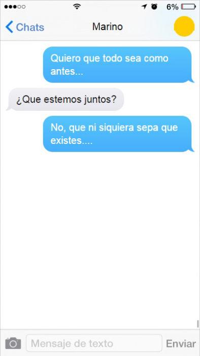 mensaje de texto que bonitos tiempos