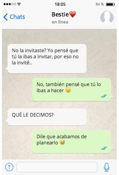 mensaje de texto no la invitaste