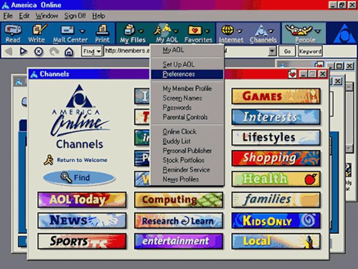 Página de AOL