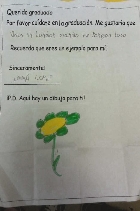 carta de un niño a un graduado