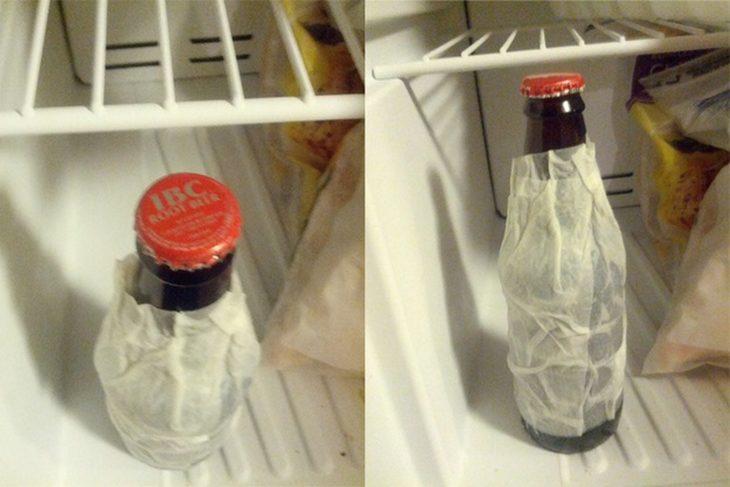 servilleta para enfriar bebida