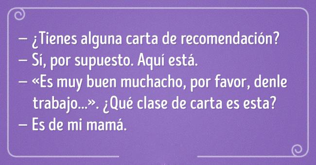 Frase de trabajo recomendación mamá