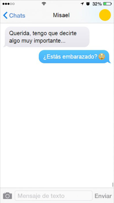 mensaje de texto una realidad paralela