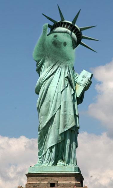 estatua de la libertad cara de erizo