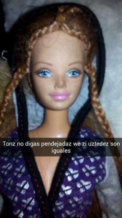 barbie convencida de dejar ver al chamacio