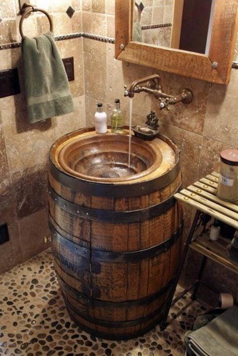 lavabo de barril
