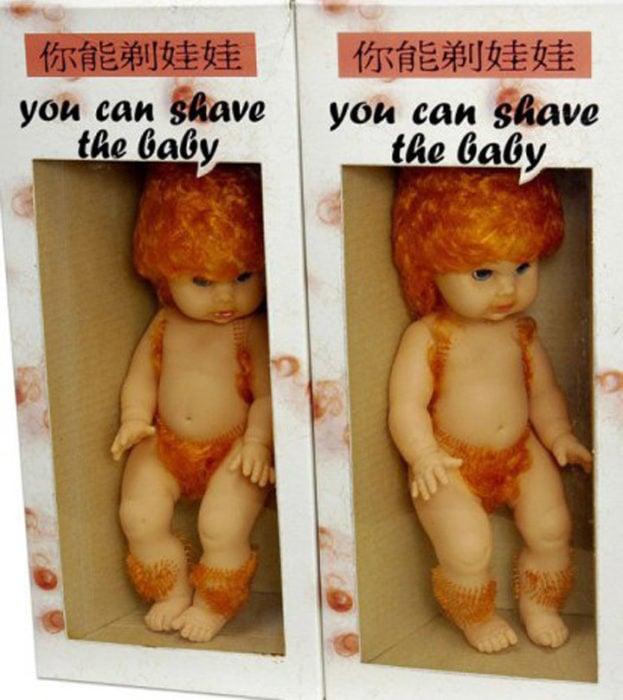 juguete bebé que se puede depilar