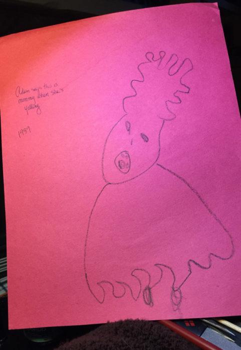 dibujo de mama hecho por un niño