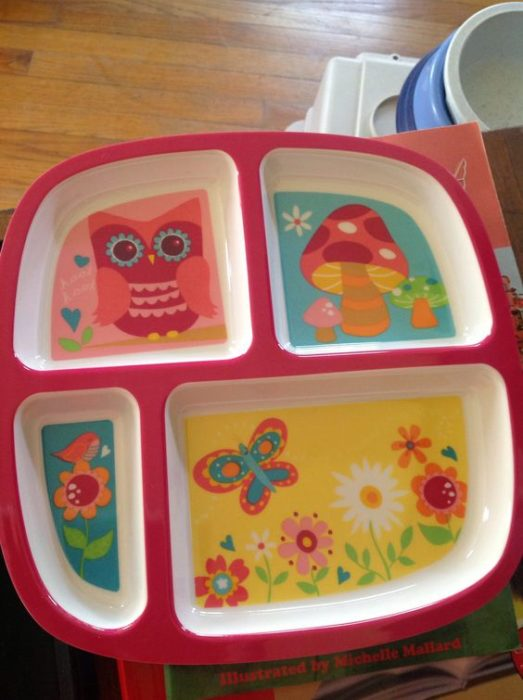 plato infantil con compartimentos