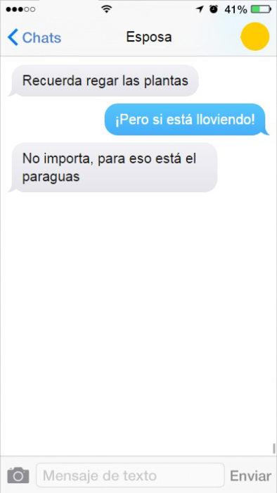 mensaje de texto pretextos
