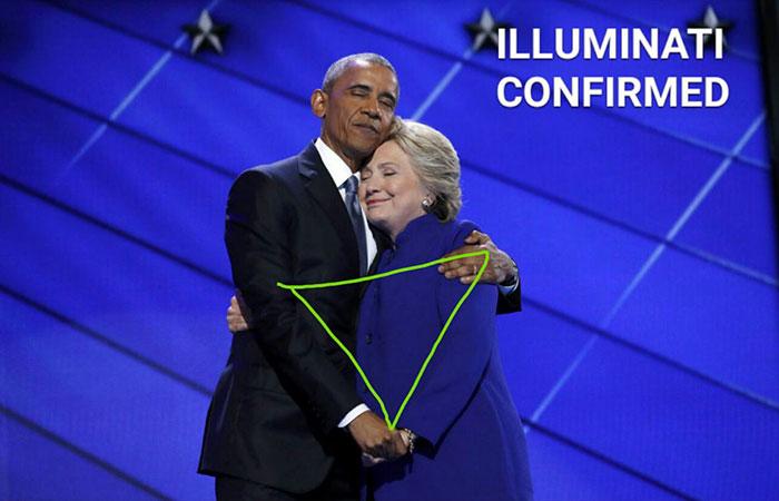 obama y hillary illuminati