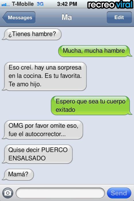 mensaje de texto tienes hambre