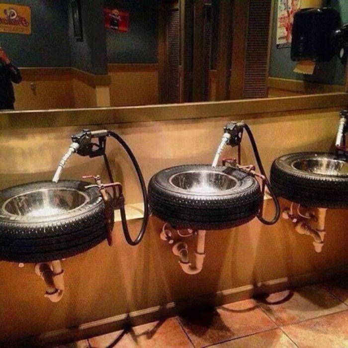 lavabos de neumático
