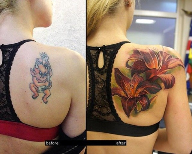 cover up tatuaje de diablo
