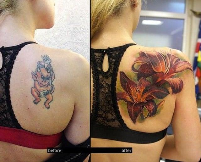 cover up tatuaje de diablo