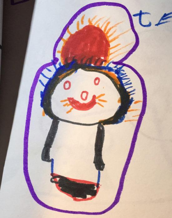 gato dibujado por un niño