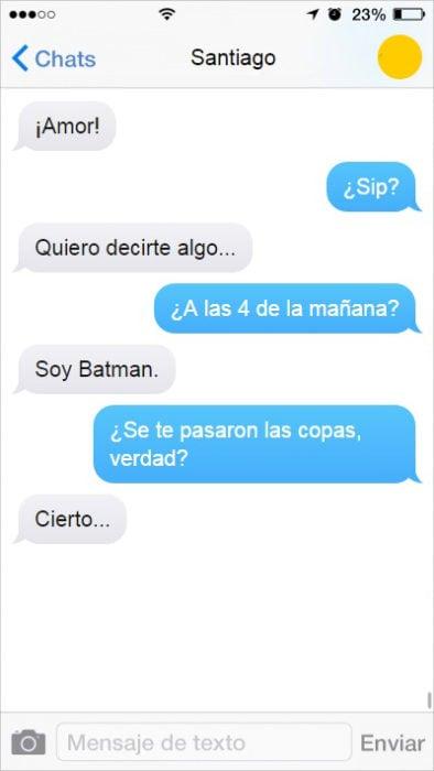 mensaje de texto novio borracho