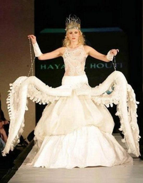 vestido de novia de pulpo