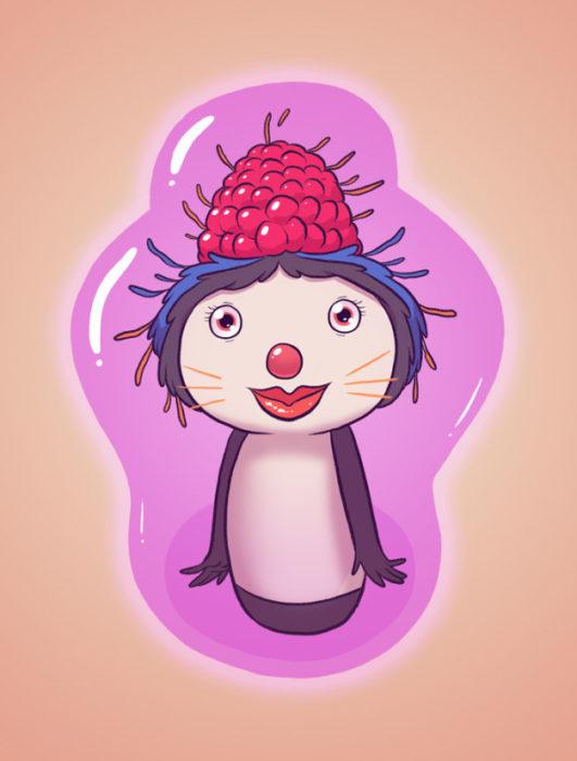 dibujo digital de un gato-pinguino