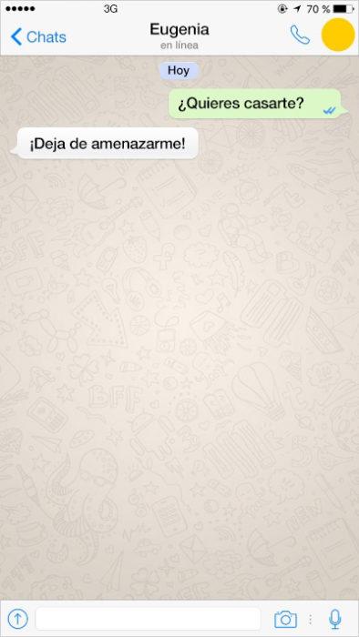 mensaje de texto quieres casarte conmigo