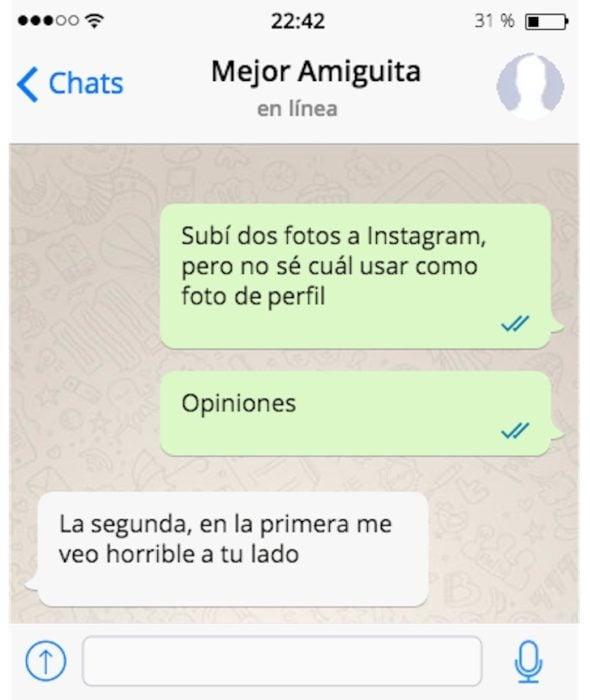 subí 2 fotos de instagram mensaje de texto