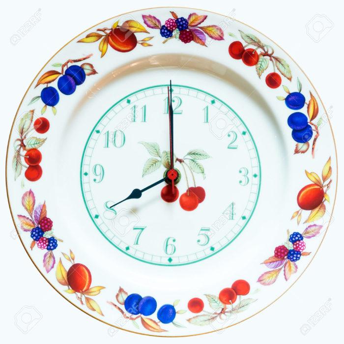 reloj de plato