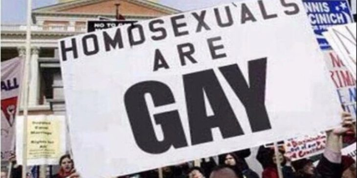 cartel los homosexuales son gay