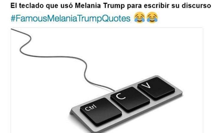meme las letras que utilizó melania para hacer su discurso